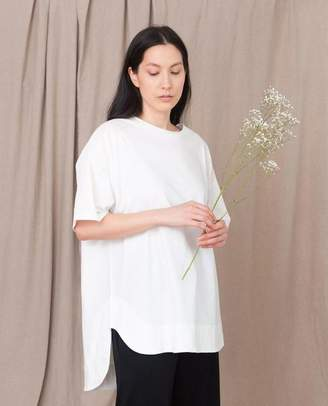 Beaumont Organic Andrea Organic Cotton Tunic In Off White - Off White / Extra Small