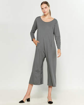 Made In Italy Oversized Scoop Neck Jumpsuit