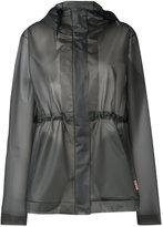 Hunter hooded raincoat - women - Polyurethane - L
