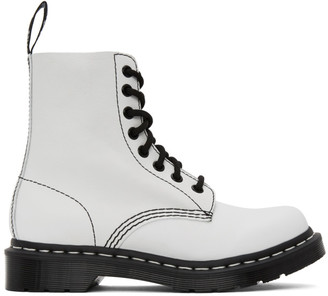 Dr. Martens White 1460 Pascal Boots