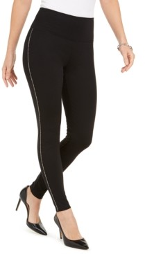 INC International Concepts Inc Side-Trim Ponte-Knit Leggings, Created for Macy's