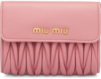 Miu Miu Matelasse Leather Wallet