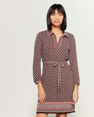 Max Studio Belted Print Jersey Dress