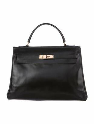 Hermes Vintage Box Kelly Retourne 32 Noir