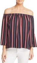 French Connection Hasan Stripe Off-the-Shoulder Top