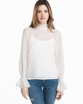 White House Black Market Cotton Voile Blouse