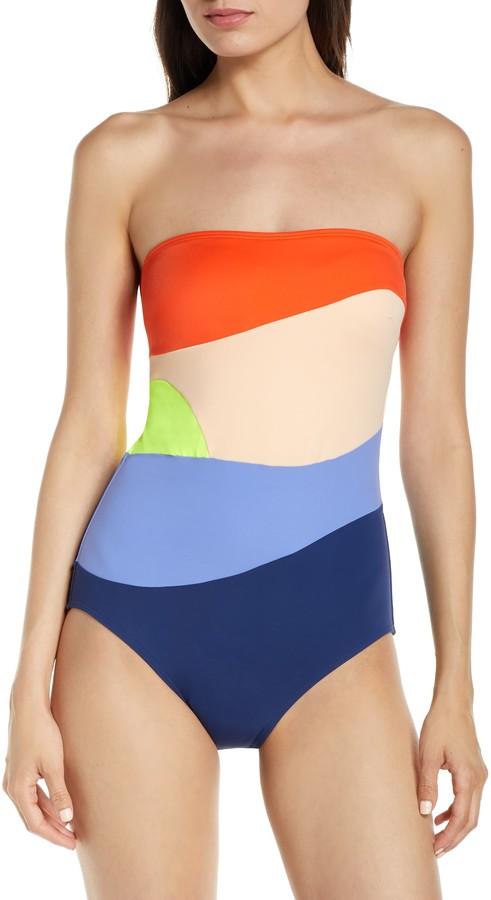 Flagpole Sunset One-Piece Swimsuit