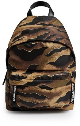 DSQUARED2 Nylon Tiger Camouflage Backpack