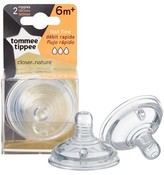 Tommee Tippee Closer To Nature Fast Flow Nipples (2pk)
