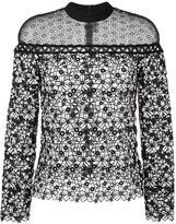 Self-Portrait floral lace blouse - women - Cotton/Polyester - 10