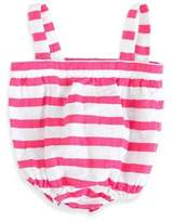 Aden Anais aden + anais® Blazer Stripe Muslin Romper in Shocking Pink/White