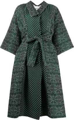 Henrik Vibskov Contrast-Panel Kimono Dress