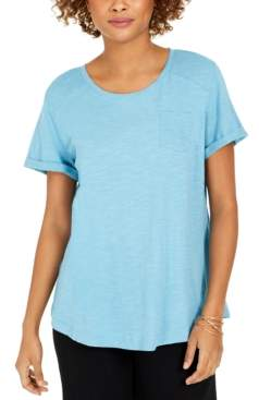 Style&Co. Style & Co Cotton Crew-Neck T-Shirt, Created for Macy's