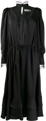Almaz Satin Panelled Chemise Dress