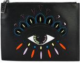 Kenzo Nagai Eye clutch - women - Cotton/Leather/Nylon/Polyurethane - One Size