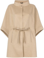 Loro Piana wide sleeve belted jacket - women - Lamb Skin/Cashmere - One Size