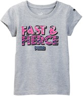 Puma Fast & Fierce Graphic Tee (Little Girls)