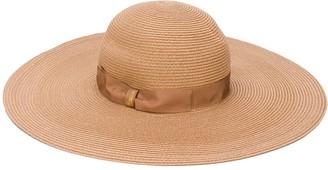 Borsalino Ribbon-Tied Sun Hat
