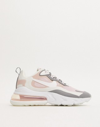 Nike 270 React Pink And Grey Trainers