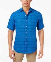 Club Room Men's Garment-Dyed Striped Linen Shirt, Created for Macy's
