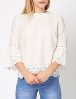 George Broderie Anglaise Bell Sleeve Blouse