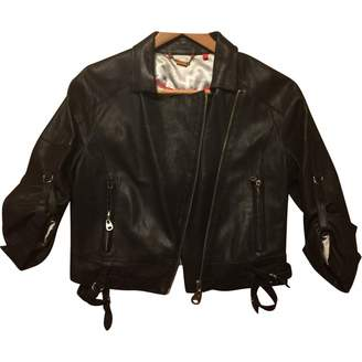 Doma Black Leather Jacket for Women