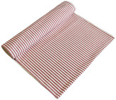 One Kings Lane Vintage French Red & Ivory Ticking Table Runner - red/ivory/multi