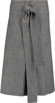 Rochas Herringbone wool midi skirt