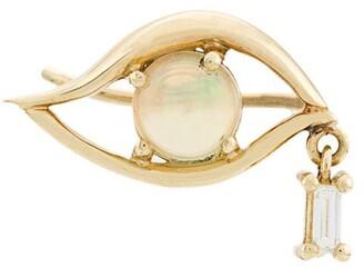 Ileana Makri 18kt yellow gold, diamond and opal tear eye stud
