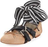Sam Edelman Fianna Buckle Ballerina Flat, Light Brown