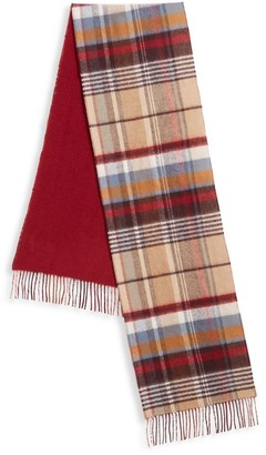 Saks Fifth Avenue COLLECTION Reversible Plaid Merino Wool & Cashmere Scarf