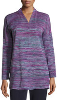 Misook Space Dye Knit Tunic, Multi
