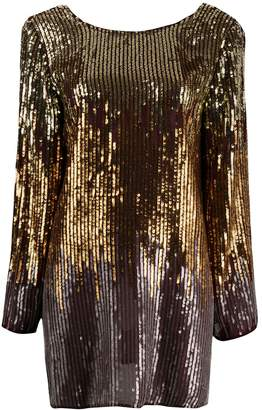 Rixo sequinned ombre short dress