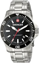 Wenger Men's 0641.105 Sea Force 3H Analog Display Swiss Quartz Silver Watch