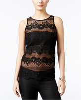 GUESS Yaro Isle Lace Contrast Top