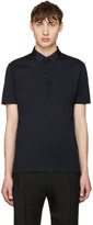 Lanvin Navy Grosgrain Collar Polo