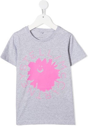 Stella McCartney Kids flower logo print T-shirt