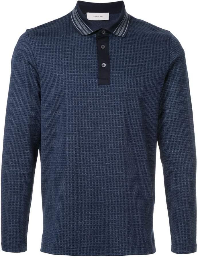 Cerruti long-sleeve polo shirt