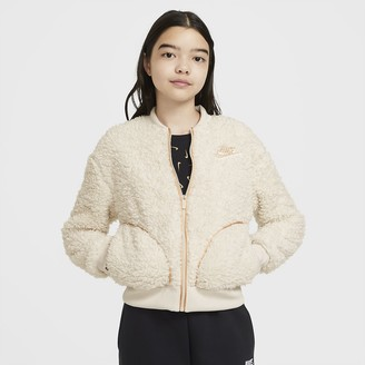 Nike Big Kids' (Girls') Full-Zip Sherpa Jacket Sportswear