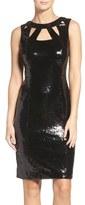 Eliza J Women's Cutout Sequin Sheath Dress