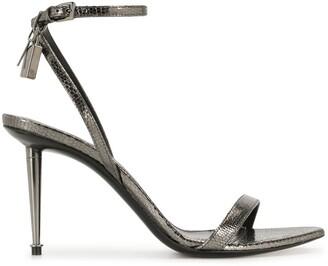 Tom Ford Padlock Detail Metallic Sandals