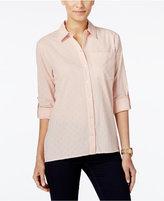 MICHAEL Michael Kors Textured High-Low Shirt