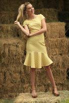 Shabby Apple Arrow Dotted Dress Yellow
