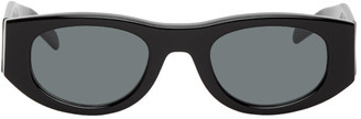 Thierry Lasry Black Mastermindy Oval Sunglasses