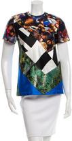 Proenza Schouler Printed Shorts Sleeve Top