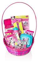BASSKET.COM Disney Minnie Mouse Gift Basket for Baby/ Teenage Girls, 13+ Piece Bundle Filled Basket of Fun Gift Set, Perfect for Birthdays, Easter, Christmas, Get Well, or Other Occasion!