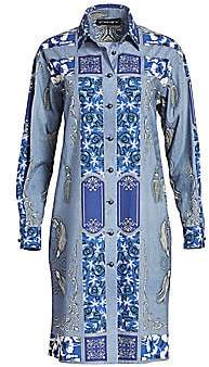Etro Women's Bandana-Print Cotton Shirtdress
