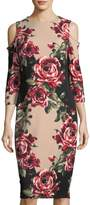 Jax Floral-Print Cold-Shoulder Dress