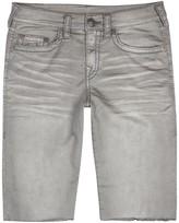 True Religion Geno Big T Grey Denim Shorts