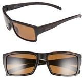 Smith Optics Women's 'Outlier' 56Mm Polarized Sunglasses - Matte Black/ Polarized Green